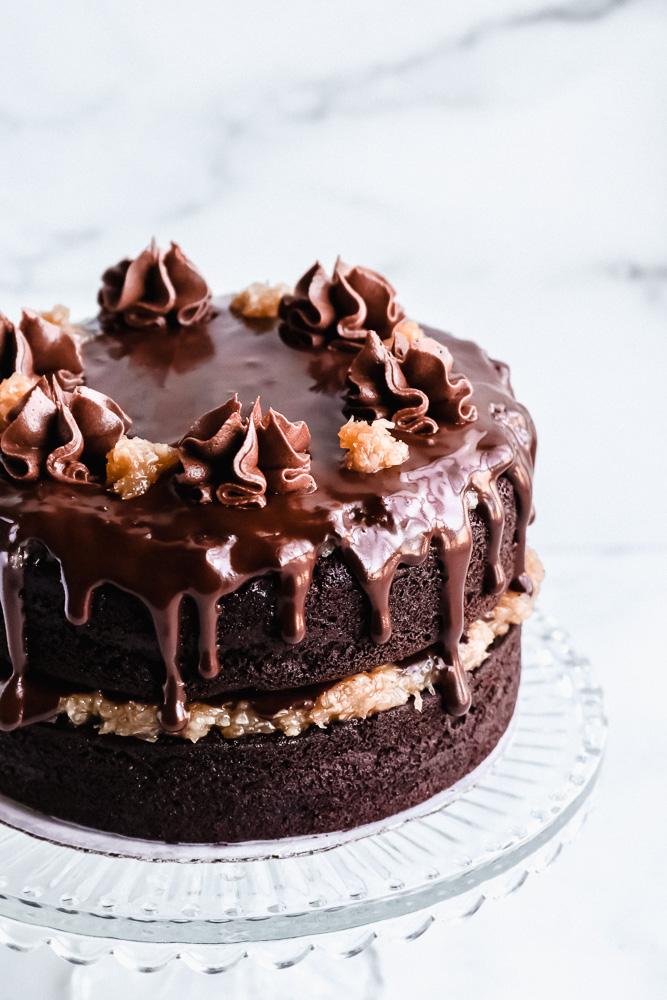 The Best Vegan German Chocolate Cake