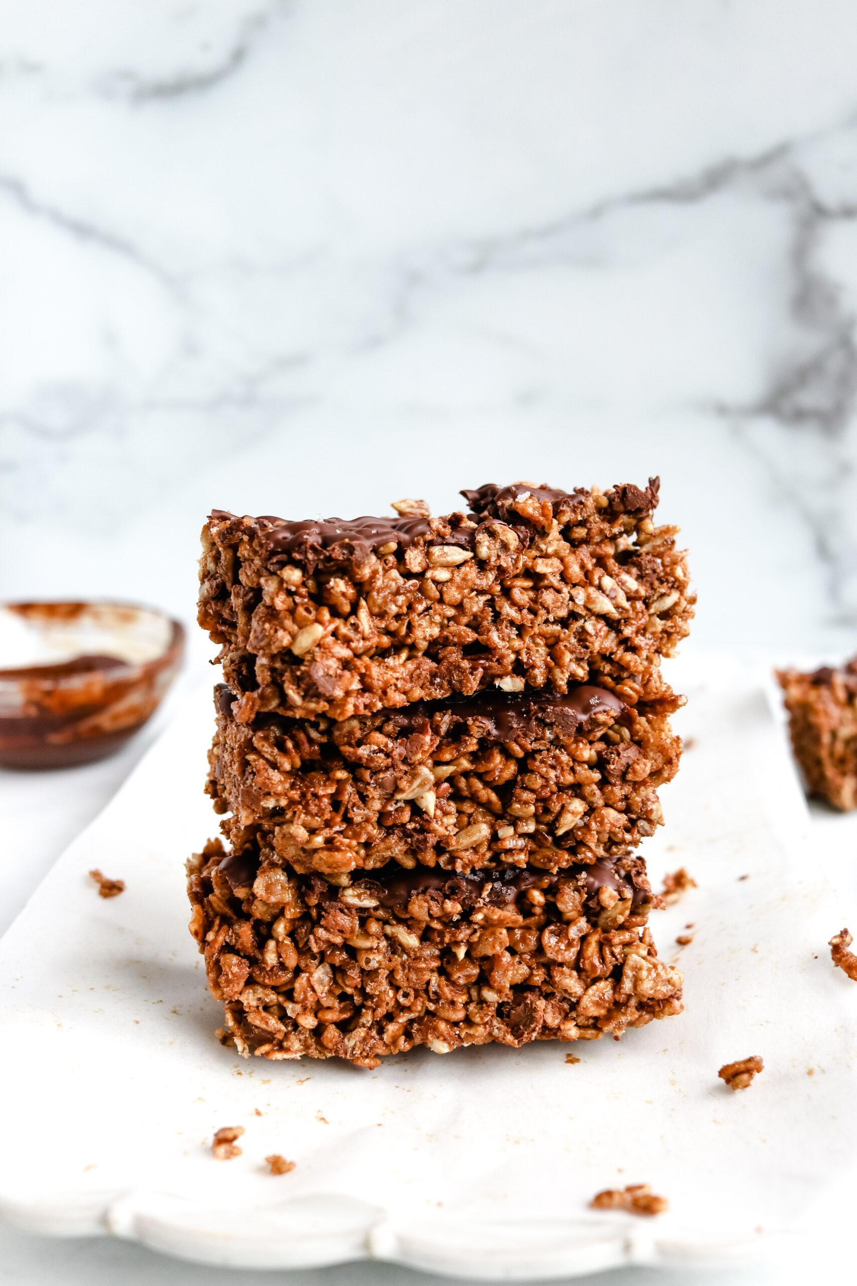 Chocolate Peanut Butter Rice Bars
