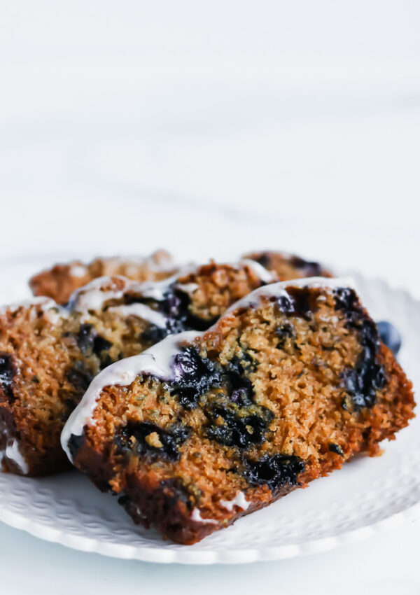 Blueberry Lemon Loaf Cake (Vegan, Allergy-friendly)