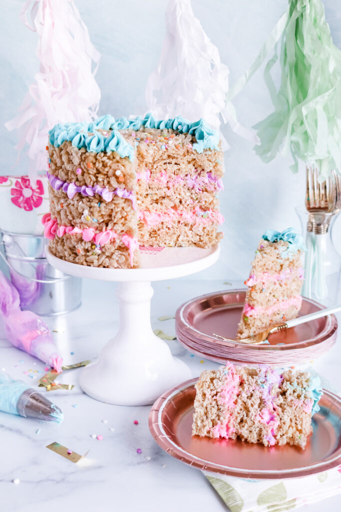 Awe Inspiring Rice Krispie Treat Cake Vegan Allergy Friendly Allergylicious Funny Birthday Cards Online Sheoxdamsfinfo