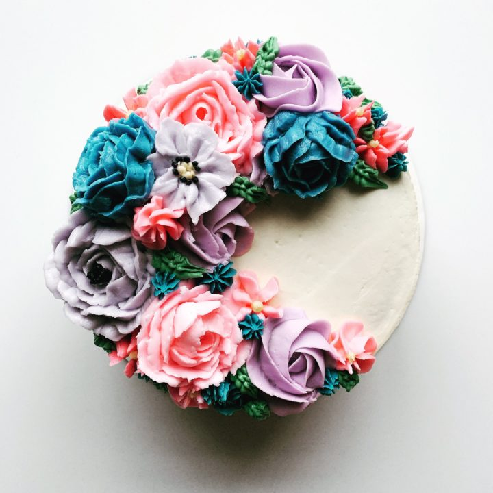 Easy Vegan Buttercream Flowers