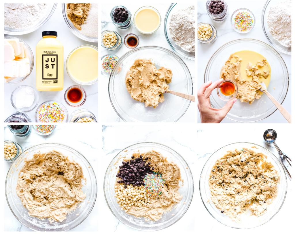 how to make vegan funfetti cookies