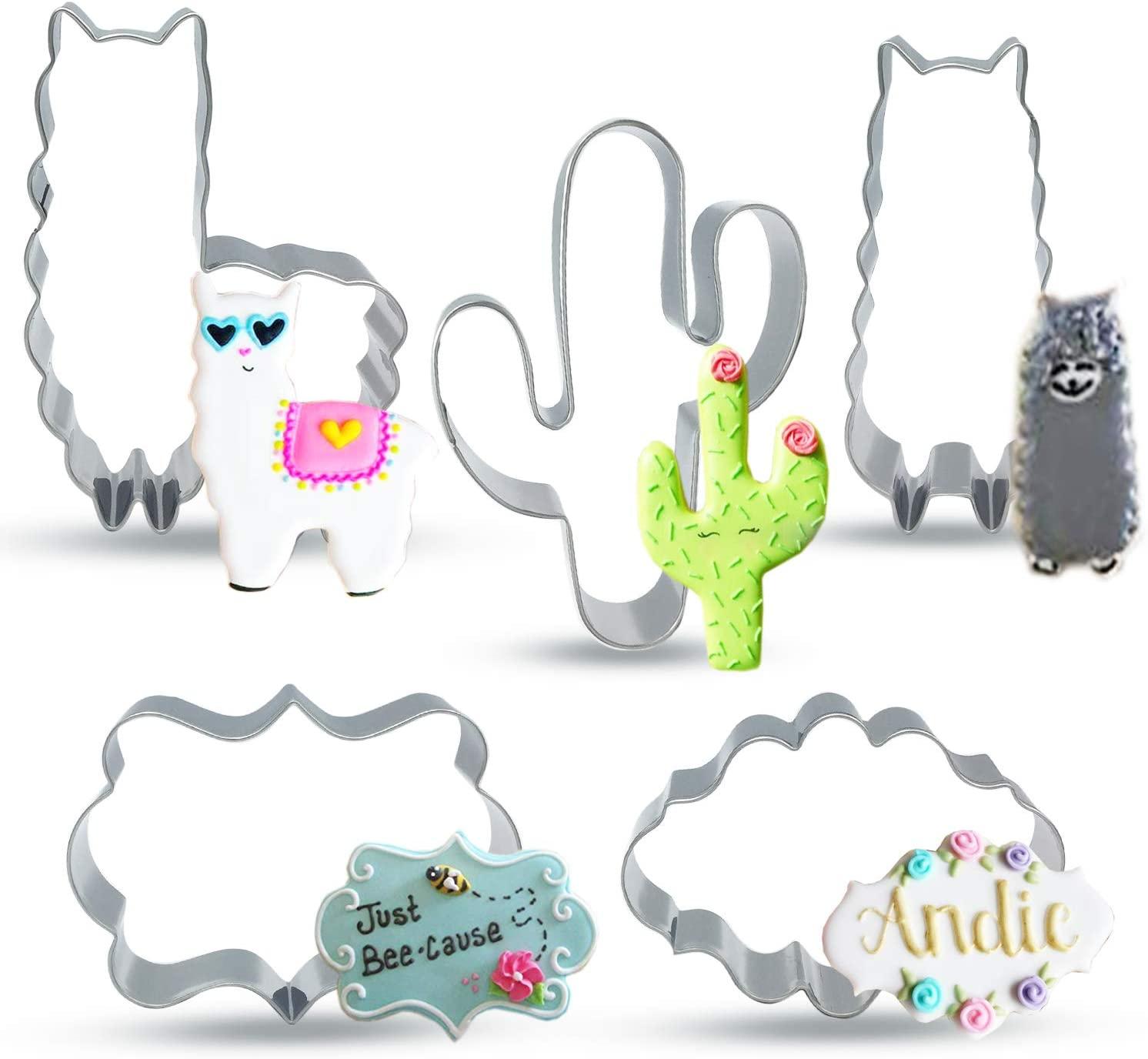 Llama Cactus Cookie Cutter
