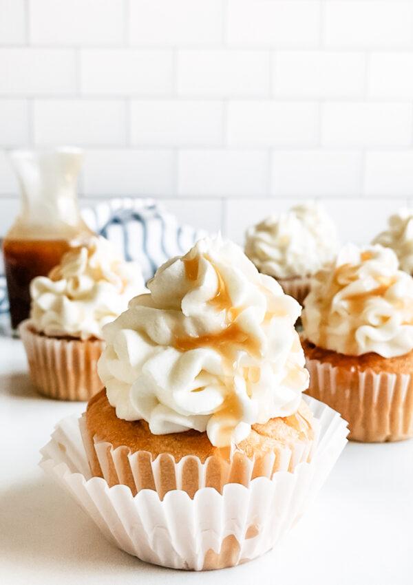 Vegan Dulce De Leche Cupcakes (peanut free, gluten-free option)