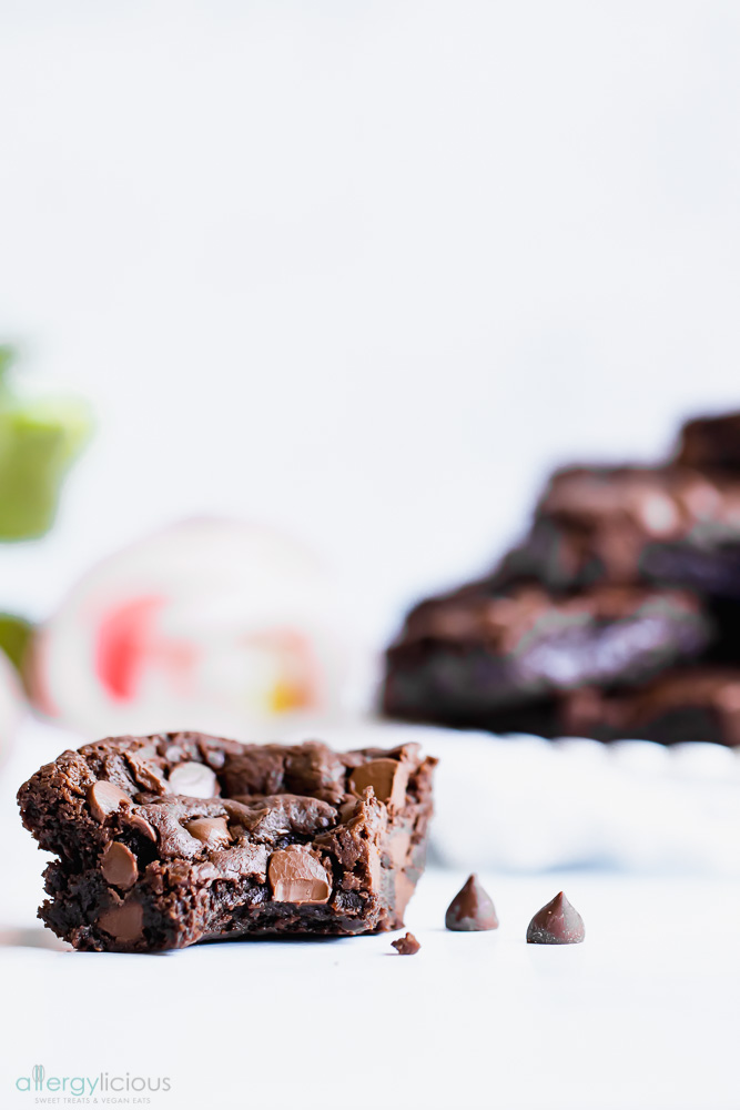 Triple Chocolate Vegan Brownies