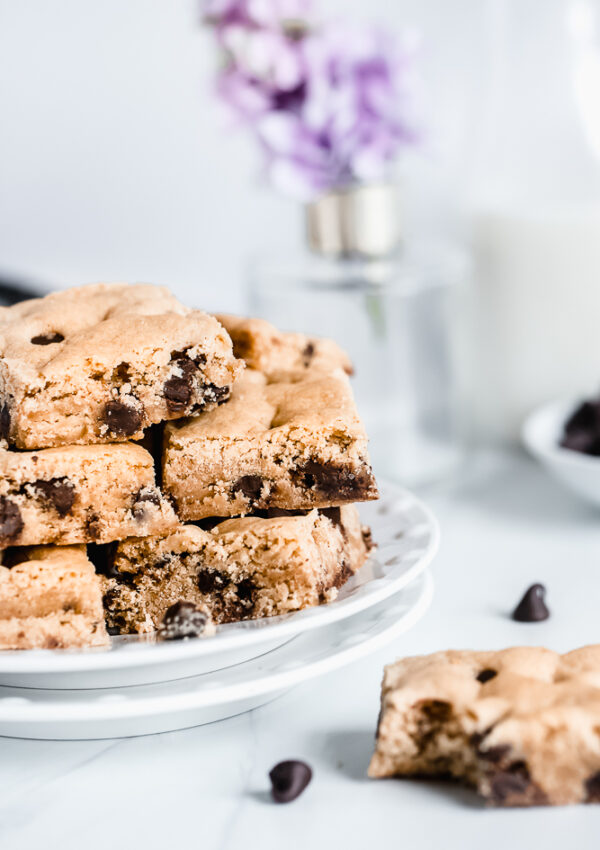 The BEST Chocolate Chip Blondies (Vegan + Nut free)