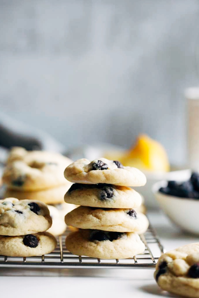 Lemon Blueberry Cookies with Cream Cheese