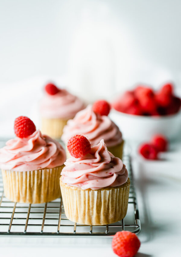 Ultimate Vegan Vanilla Cupcakes with Raspberry Buttercream