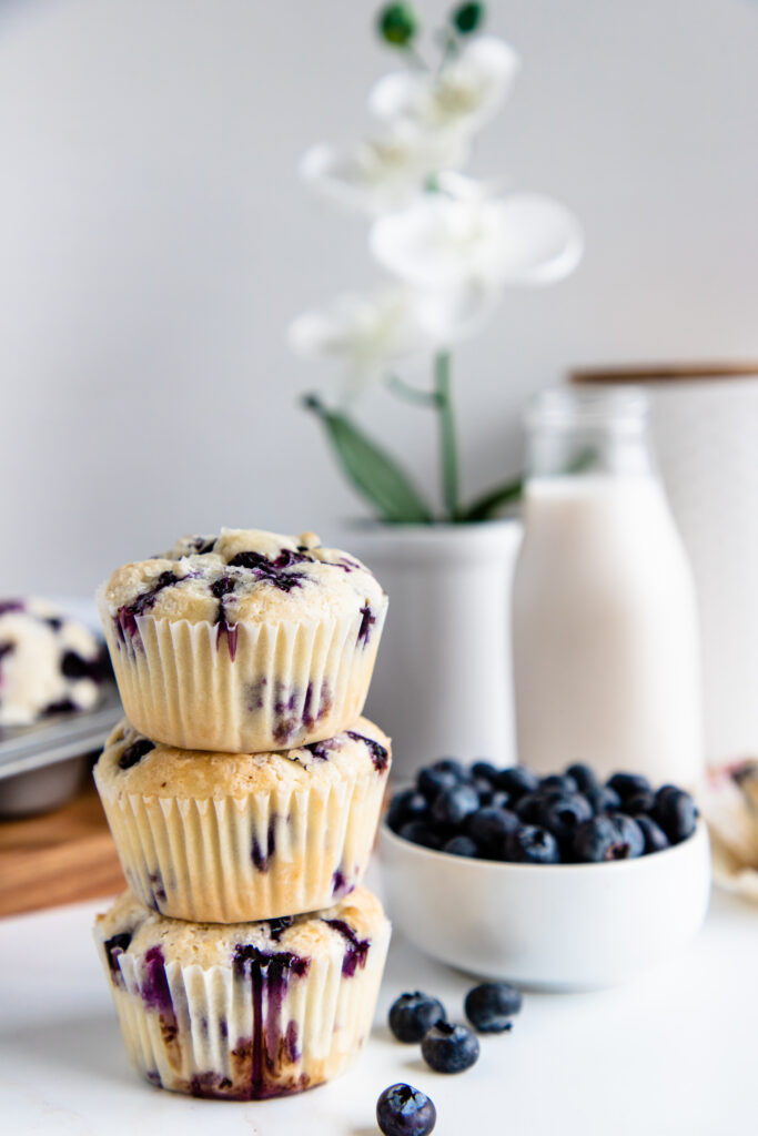 Plant-based Blueberry muffins