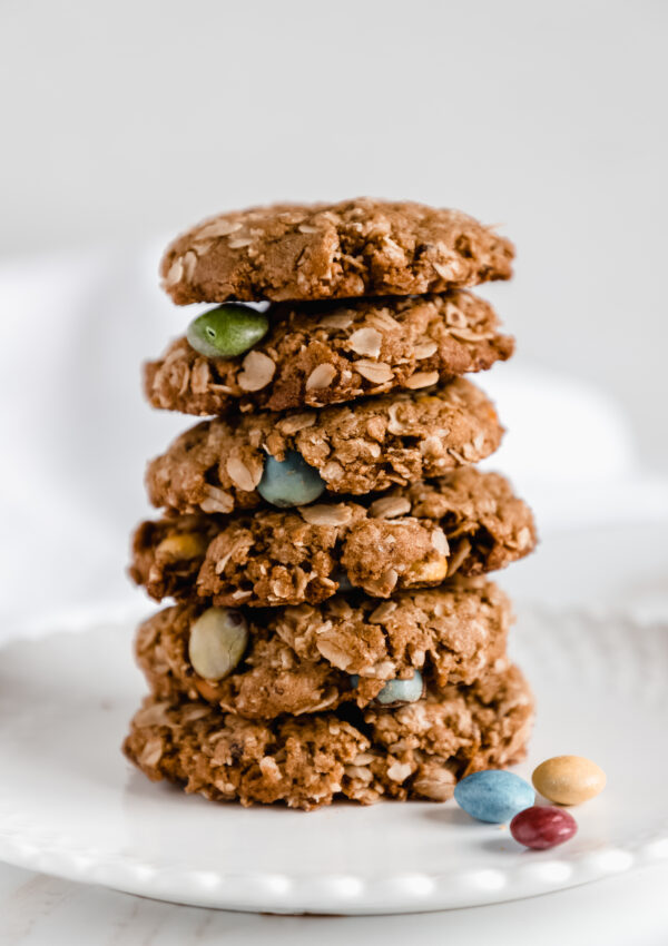 Easy to Make, Vegan Oatmeal M&M Cookies with SunButter