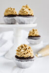The Best Chocolate Cupcakes with SunButter Buttercream Frosting