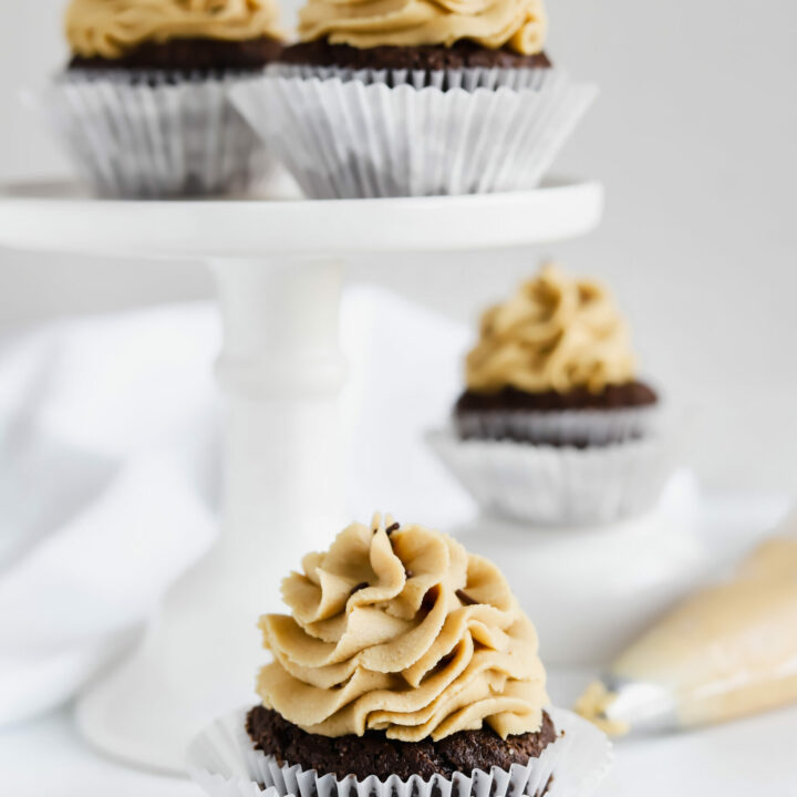 Vegan Chocolate Cupcakes with SunButter Frosting