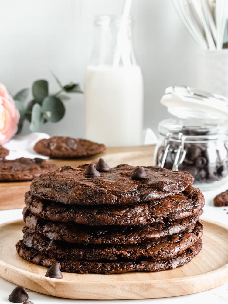 Vegan chocolate brownie cookies