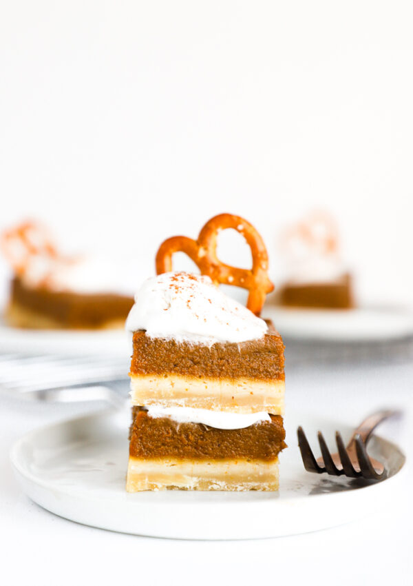 The Best Vegan Pumpkin Pie Bars (gluten free option)