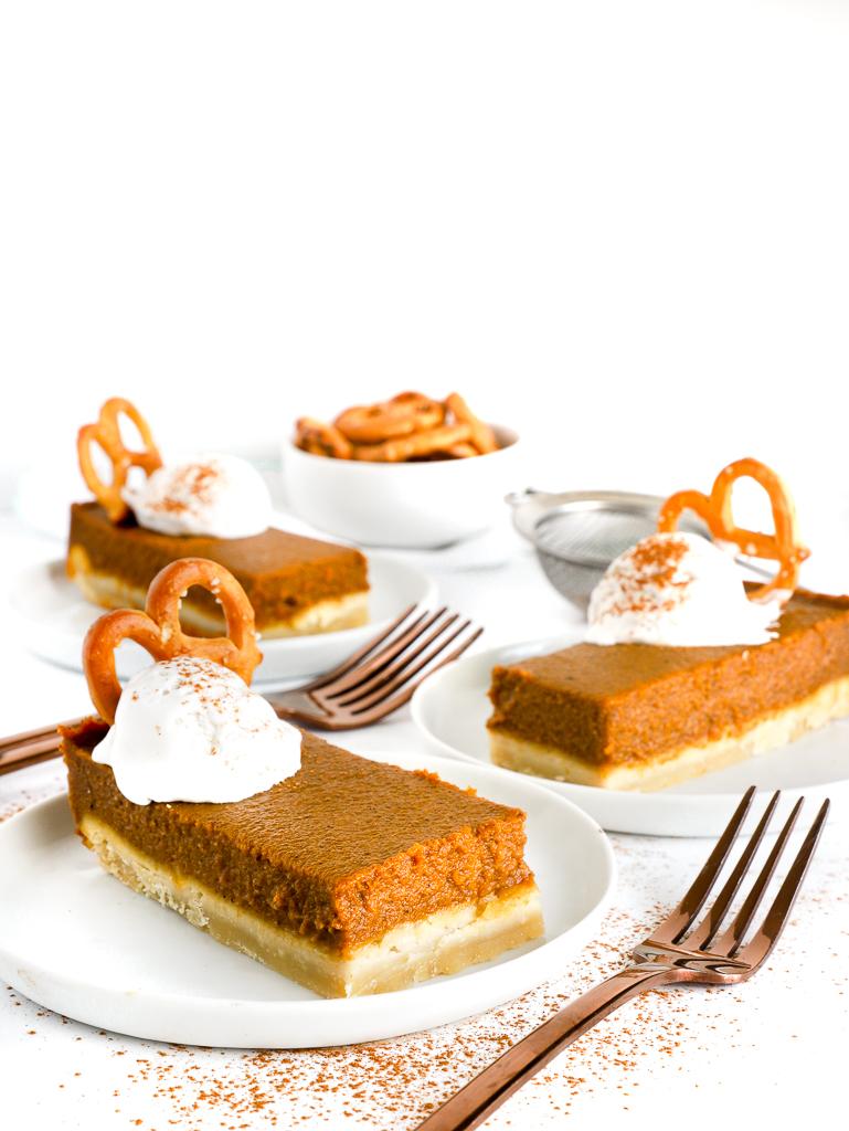 vegan pumpkin pie bars