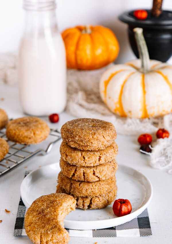 New Pumpkin Snickerdoodle Cookies (vegan + gluten free option)