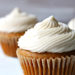 close-up pumpkin cupcakes